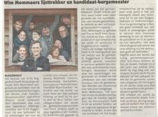 Els Cools, Thomas De Coster, Jan Jacobs, Karen Lauwers, Wim Mommaers, Jef Verhaegen,, Ward Vranken en JP Willems